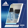 Adidas Moves Edt Spray 1 oz & Edt Spray .5 oz for men by Adidas