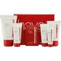 men shave system kit: scrub + pre shave guard + shave cream + post shave balm + daily defense block--5pcs