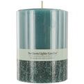 Ocean Breeze One 3x4 Inch Pillar Candle.  Burns Approx. 80 Hrs. for unisex by Ocean Breeze