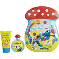 Smurfs 2 Piece Clumsy Smurf Tin Can Set Includes Eau De Toilette Spray 1.7 oz & Bubble Bath 2.5 oz for unisex by First American Brands