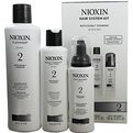 Nioxin Number 2 Hair System Kit (Noticeable Thinning) With Cleanser 10.1 oz & Scalp Therapy 5.1 oz & Scalp Treatment 3.3 oz for unisex by Nioxin