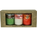 Candle Gift Set Set Includes 3 Soy Candle Tumblers Featuring Yuletide Pine, Candy Cane And Holiday Cheer. Each Candle Burns Approx 4 Hrs for unisex
