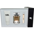 Karl Lagerfeld Eau De Parfum Spray 2.8 oz & Body Lotion 3.4 oz & Eau De Parfum Rollerball .33 oz for women by Karl Lagerfeld