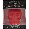 Ed Hardy Skulls & Roses Eau De Toilette Spray 3.4 oz (Chalkboard Edition) for men by Christian Audigier