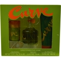 Curve Cologne Spray 2.5 oz & Hair And Body Wash 3.4 oz & Deodorant Stick 1 oz for men by Liz Claiborne