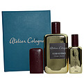 Atelier Cologne Gold Leather-Cologne Absolue Spray 6.8 oz & Cologne Refillable Spray 1 oz & Case for unisex by Atelier Cologne
