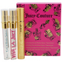 Juicy Couture Variety 3 Piece Womens Mini Variety With Juicy Couture & Viva La Juicy & Peace Love & Juicy Couture And Empty Holder And All Are Eau De Parfum Spray .25 oz Minis for femei
